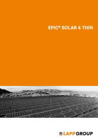 EPIC SOLAR 4 THIN Catalogue Cover