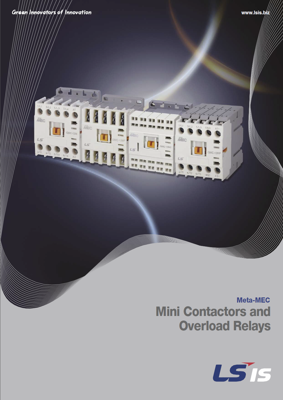 Mini Contactors and Overload Relays Catalogue Cover