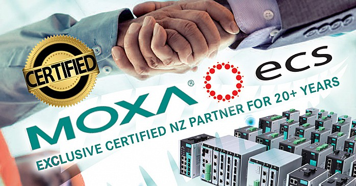 Exclusive Certified MOXA NZ Partner For More Than 20 Years Banner