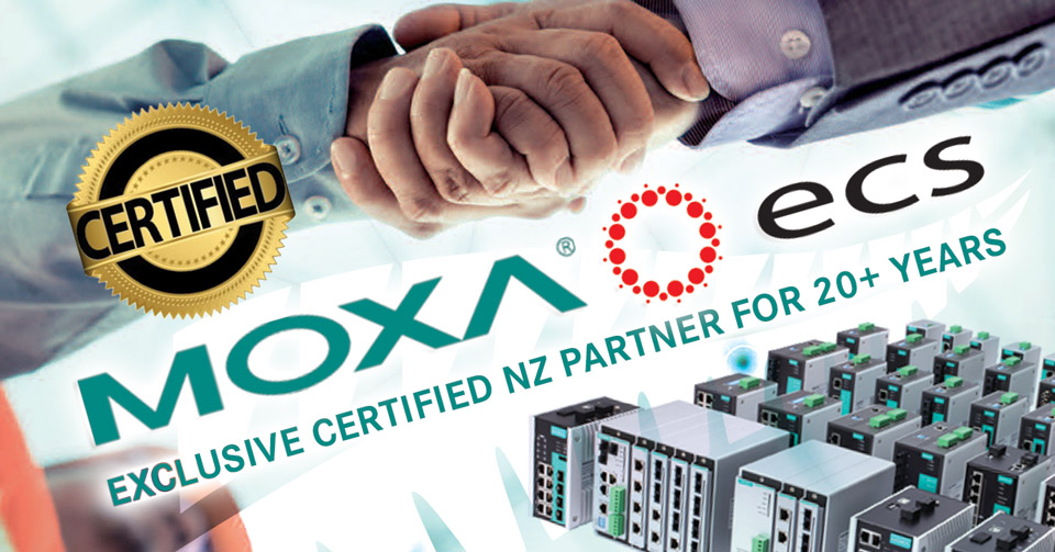 Exclusive Certified MOXA NZ Partner For More Than 20 Years