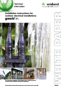 Installation instructions for outdoor electrical installations Catalogue Cover